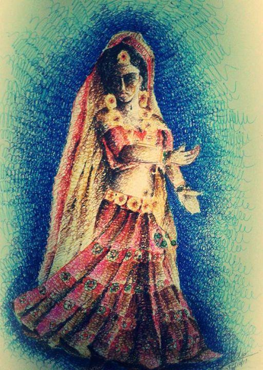 dancing woman ' Garba' - Ar. Abhay Gupta