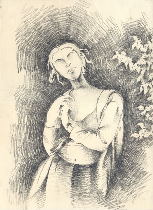 daydreaming Woman - Ar. Abhay Gupta