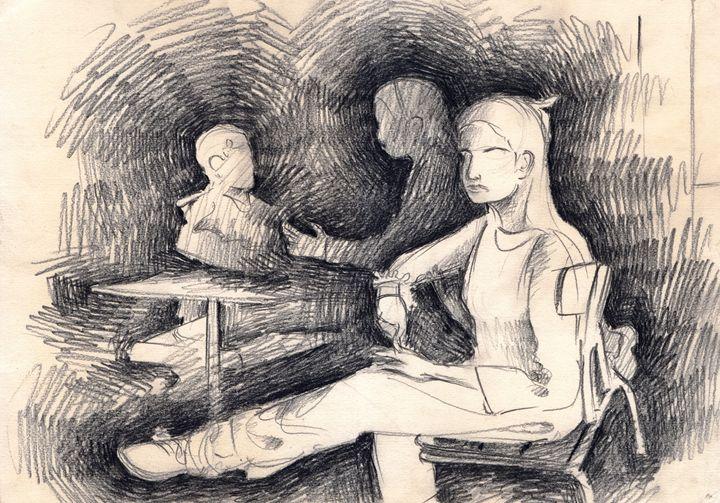 A sitting Girl - Ar. Abhay Gupta