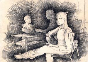 A sitting Girl