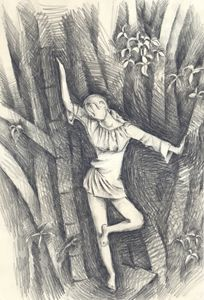 girl in wood