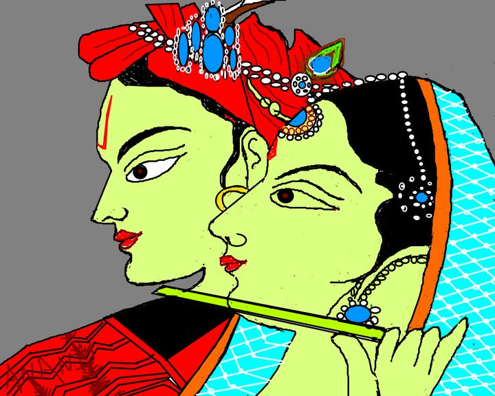 DIVINE COUPLE - ANAND PAINTINGS