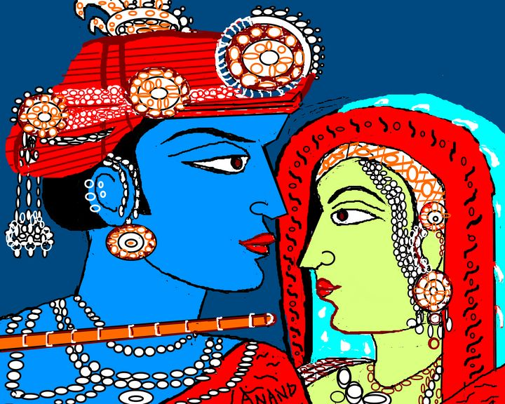 A DIVINE ROMANCE - ANAND PAINTINGS