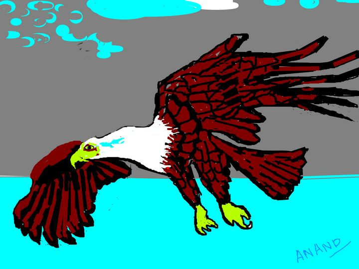 A EAGLE-3 - ANAND PAINTINGS