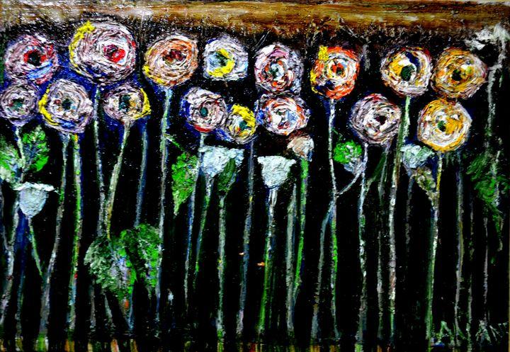 ABSTRACT ROSES - ANAND PAINTINGS