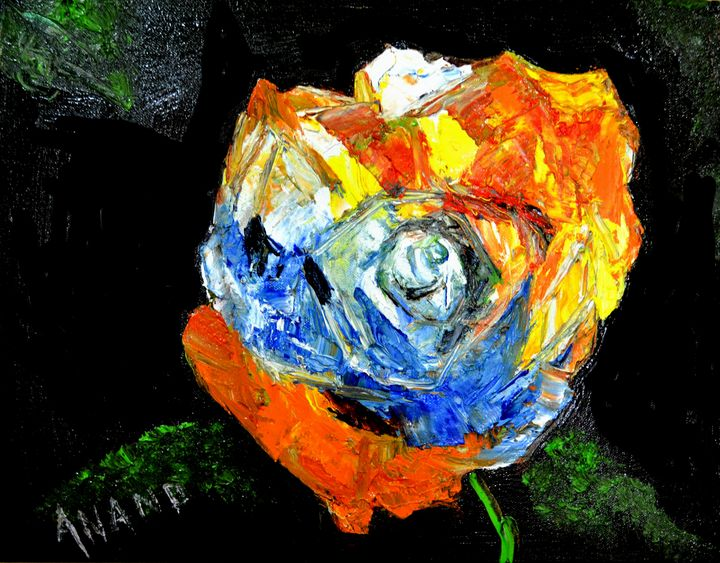 FLOWER STUDY-3 - ANAND PAINTINGS