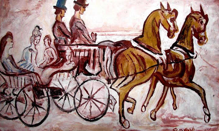 HORSE CHARIOT - ANAND PAINTINGS