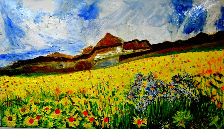 VALLEY OF FLOWERS-6 - ANAND PAINTINGS