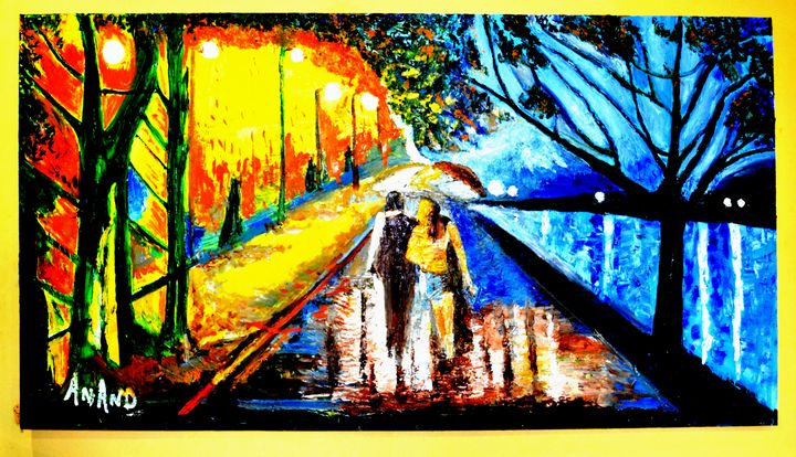 RAINY DAY - ANAND PAINTINGS