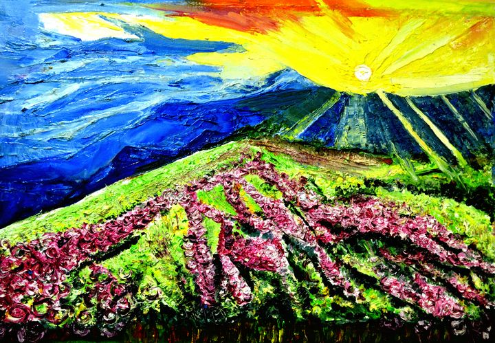 VALLEY OF FLOWERS-1 - ANAND PAINTINGS