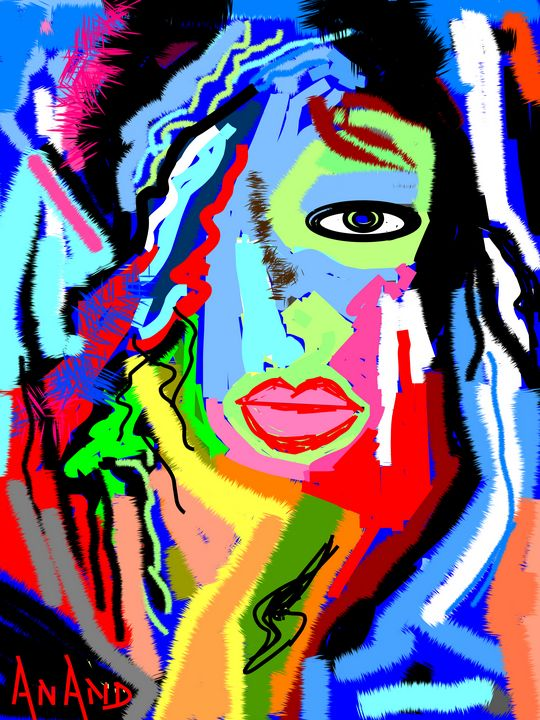 WOMAN ABSTRACTION - ANAND PAINTINGS