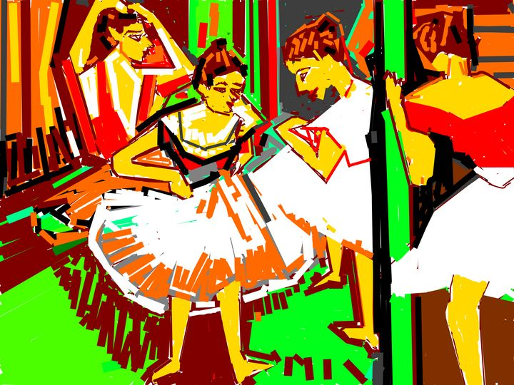 BALLET DANCERS - ANAND PAINTINGS
