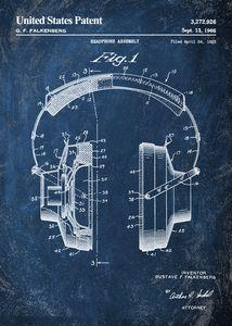 1966 chalkboard headphone patent