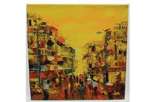Vietnam painting of street