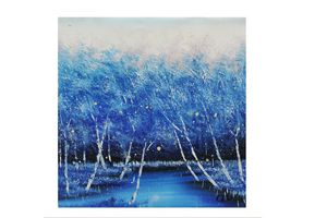 Winter forest, Blue forest in winter
