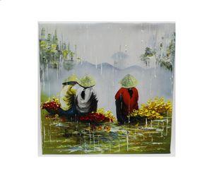 Vietnamese women on a rainy day