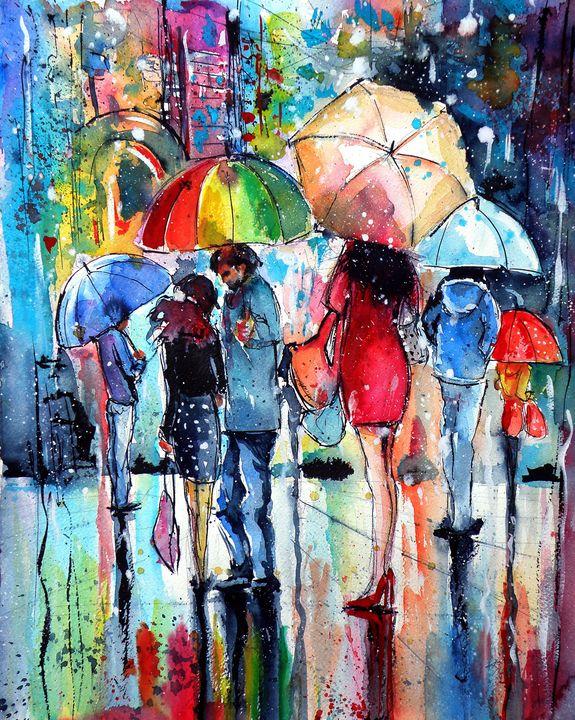 Waiting in the rain - kovacsannabrigitta