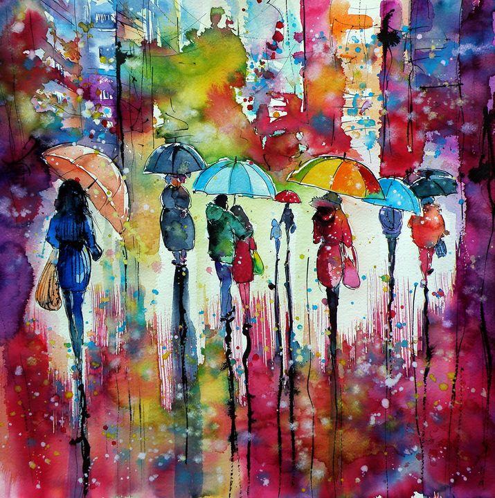 Rain, colours, people II - kovacsannabrigitta