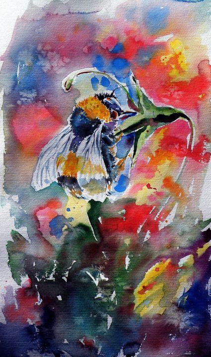 Bee with flower - kovacsannabrigitta