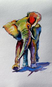 Elephant playing