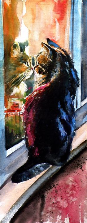 Cat in front of the window - kovacsannabrigitta