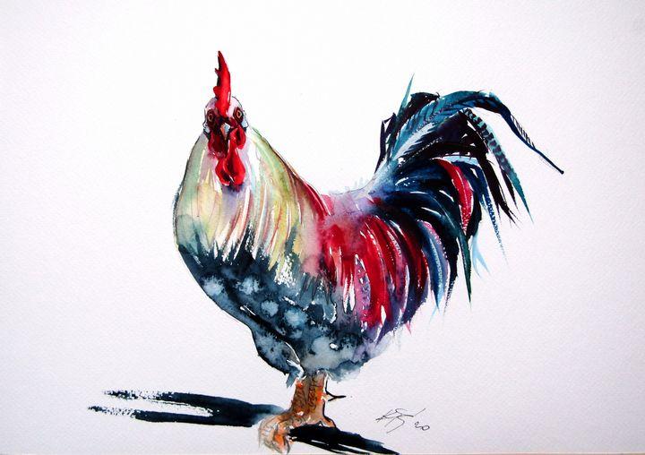 Colorful rooster - kovacsannabrigitta
