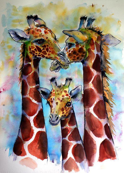 Giraffe family - kovacsannabrigitta