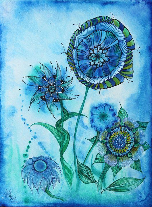 Blue Mist - HahoninArt