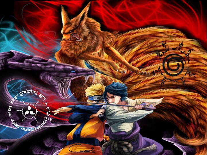 Naruto vs Sasuke - Connar Cunningham