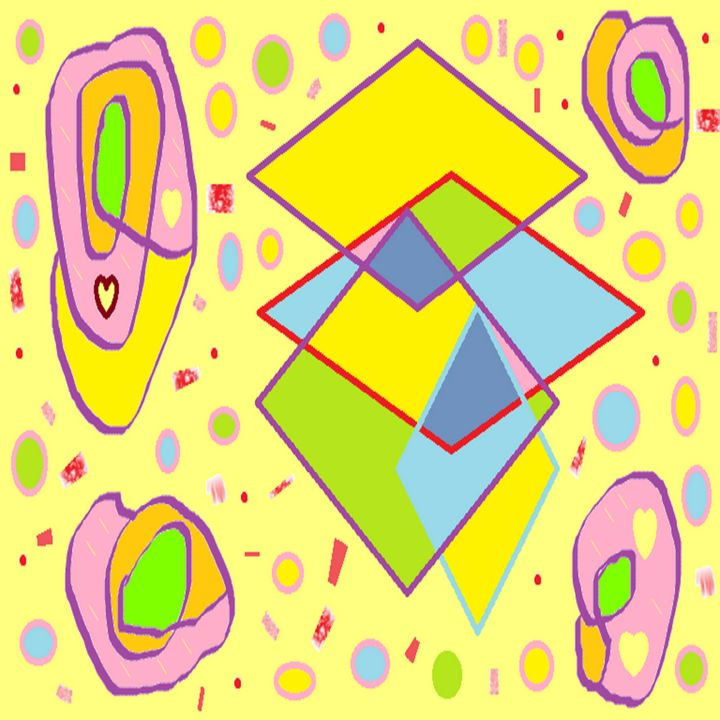 Diamonds on Pale Yellow Background - Archie