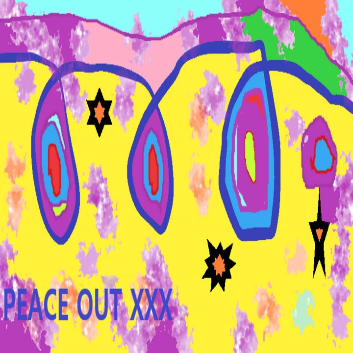 Peace Message Art yellow background - Archie