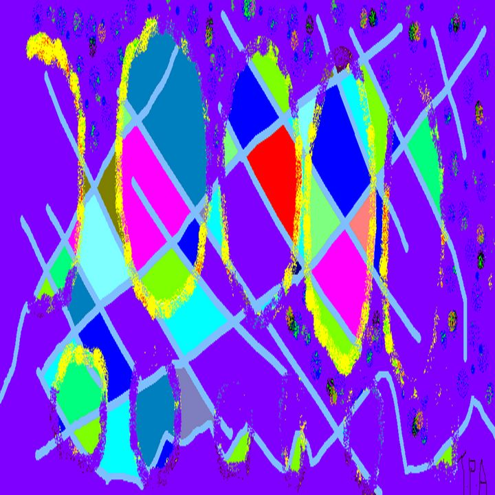 Purple haze Art Picture - Archie