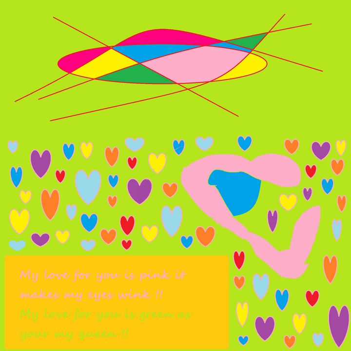 Art poster My love for you is pink - Archie