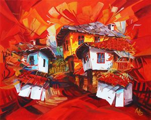 Red houses - Marius