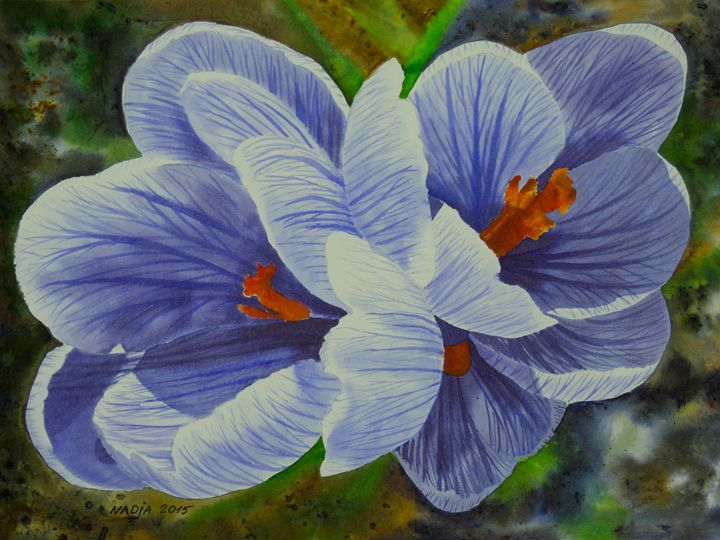 Crocuses - Nadja Yabrova Art