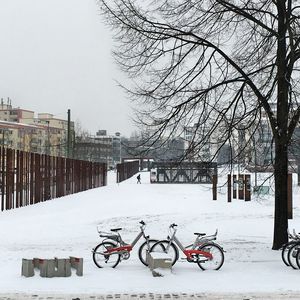 Berlin Wall Memorial in Winter