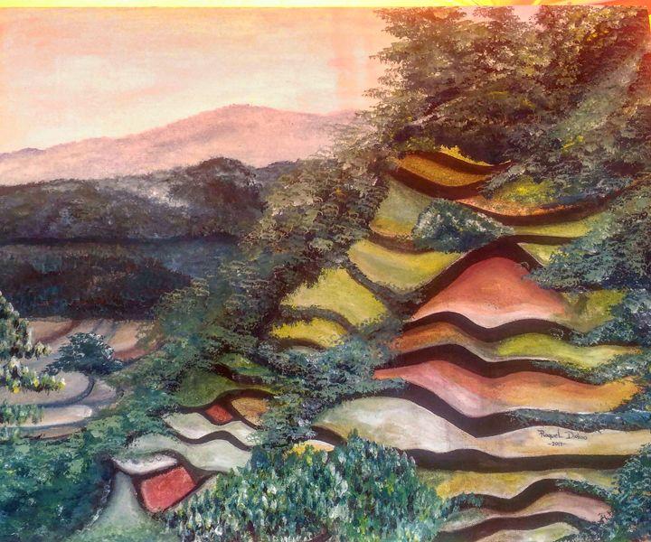 Ankileng Sagada rice terraces - The Accidental Artist ( Raquel Diokno)