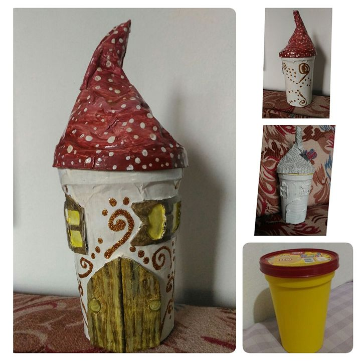 recycled fairy house - The Accidental Artist ( Raquel Diokno)