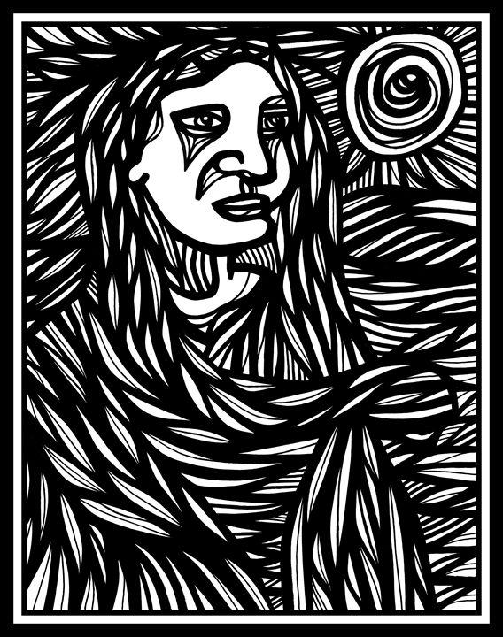 Woman Sun Doctrine - Eddie Alfaro Art