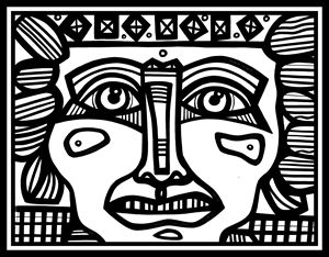 Black and White, Mayan Warrior
