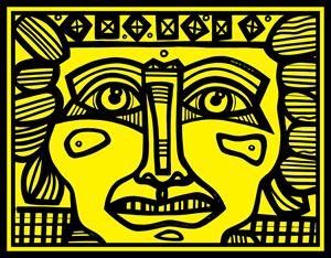 Yellow, Black, Mayan Warrior