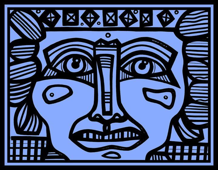 Mayan, Warrior, Ancient, Aztec - Eddie Alfaro Art
