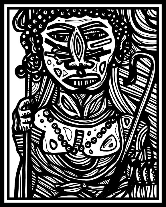 Voodoo Man Erudition - Eddie Alfaro Art