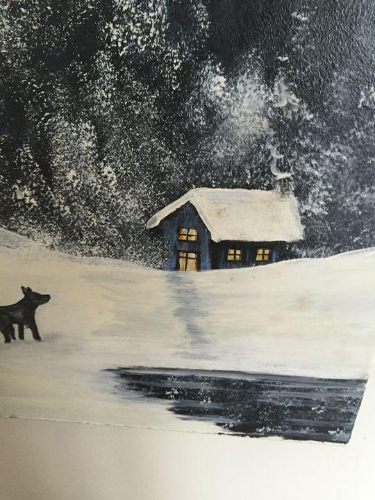 Wolf outside my house - Joeyj