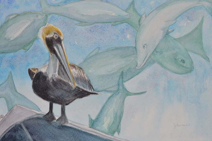 A Pelican's Dream - Art by Julie Lemons