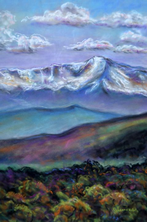 Colorado Mountains - Art by Julie Lemons