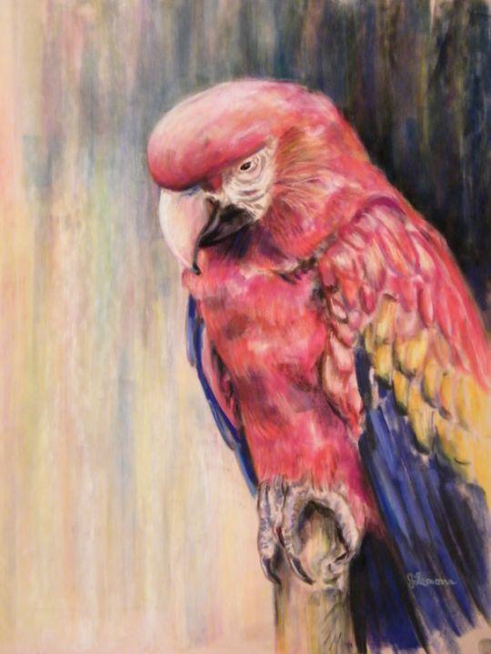 Scarlet's Post - Art by Julie Lemons