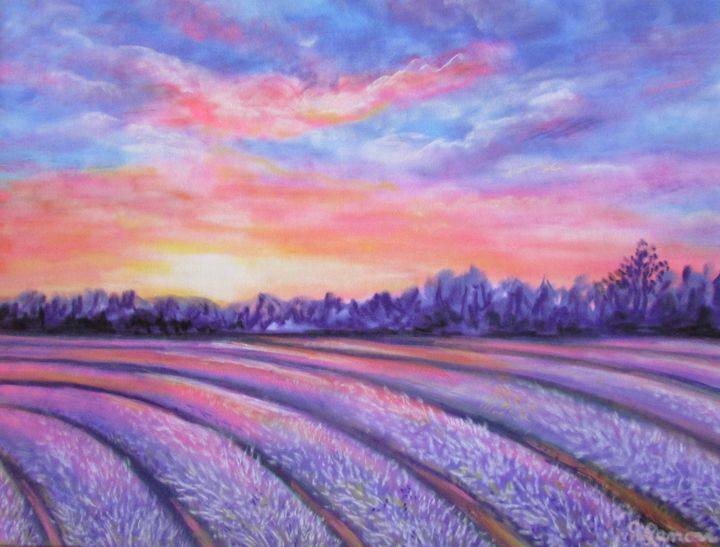 Lavender Fields - Art by Julie Lemons