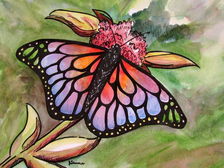Butterfly Sunrise - Art by Julie Lemons