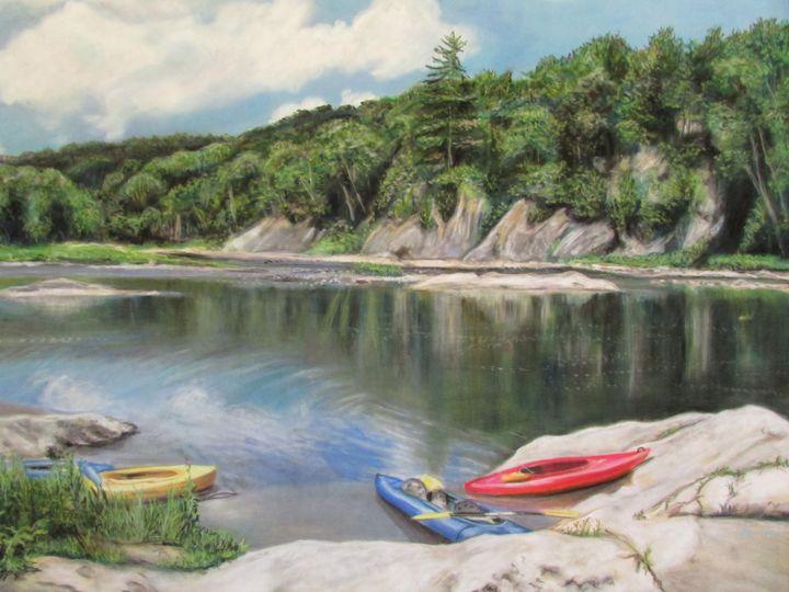 Kayaking - Art by Julie Lemons